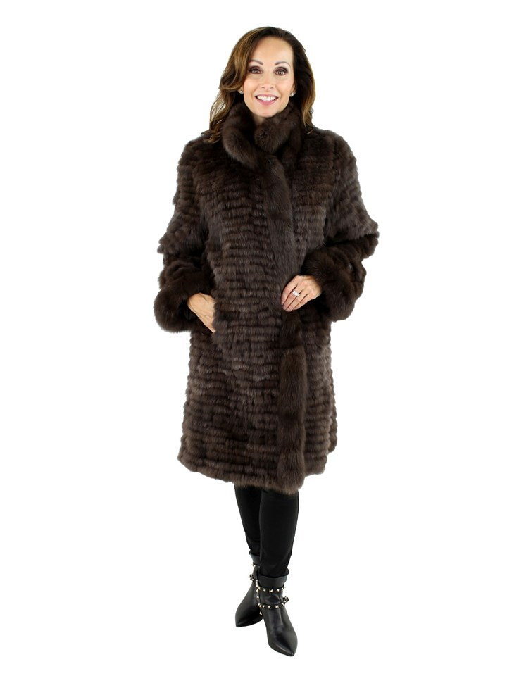 Woman's Brown Sable Fur Coat