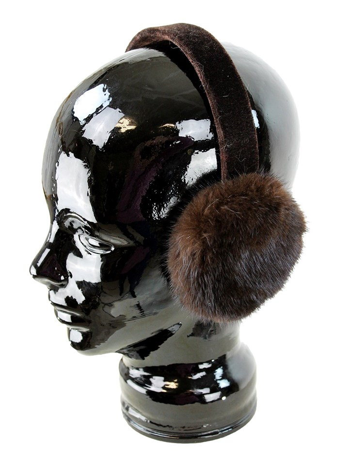 Woman's Brown Mink Fur Earmuffs