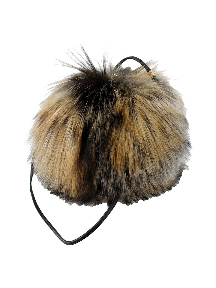 Woman's Natural Cross Fox Fur Purse and Muff