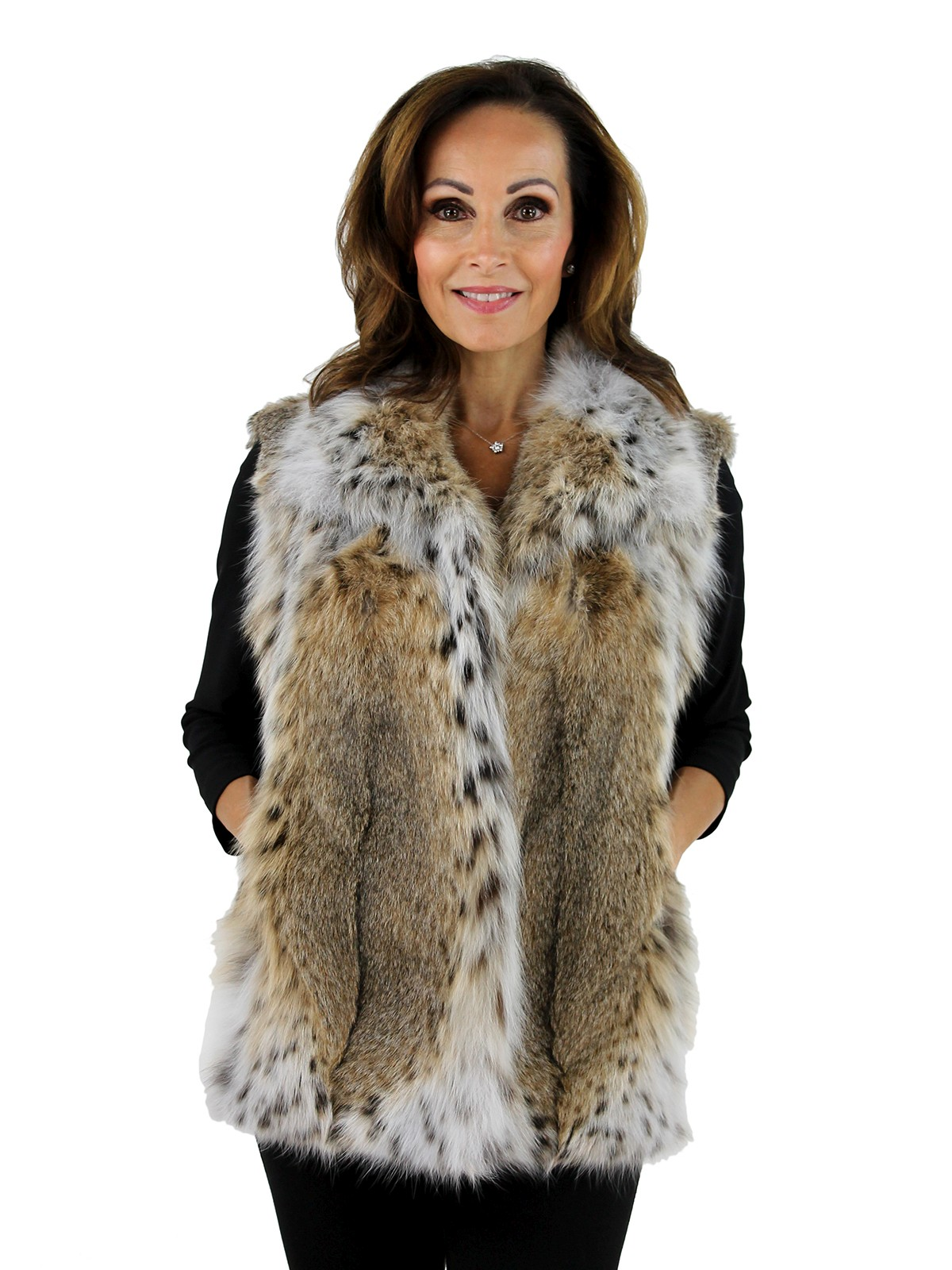 Woman's Natural Lynx Fur Vest