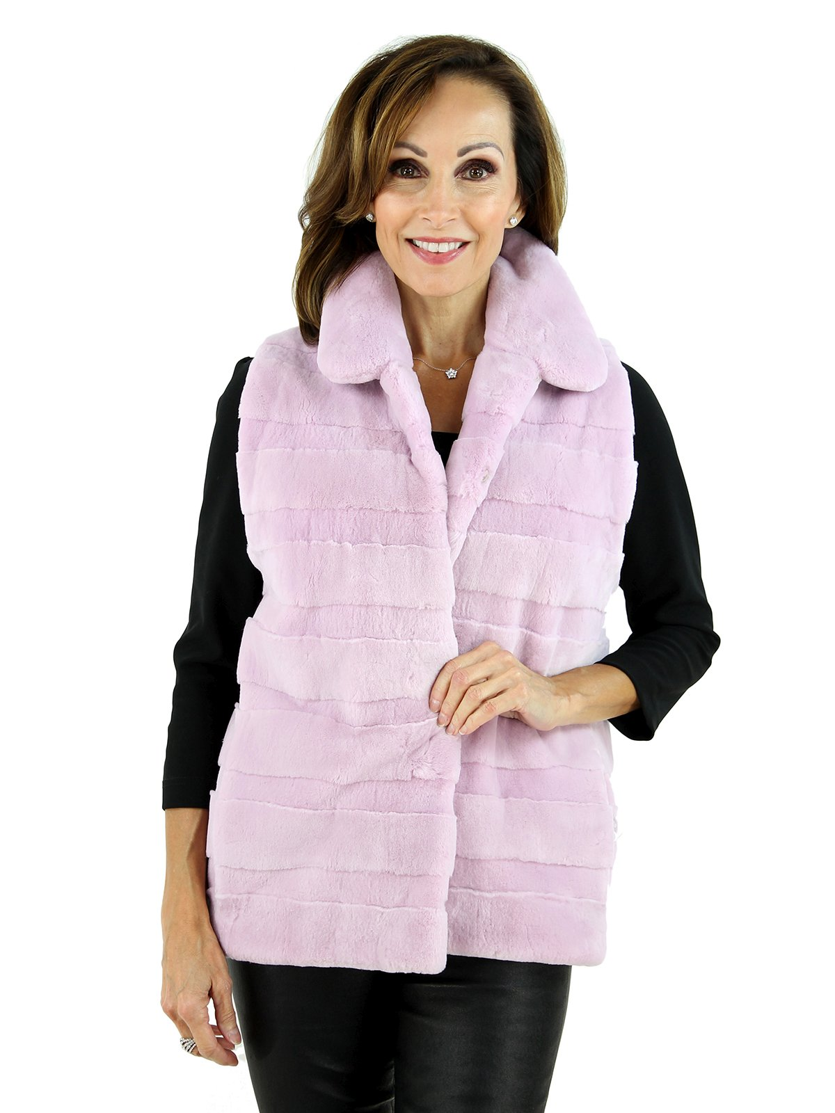 Woman's Orchid Sheared Beaver Fur Vest
