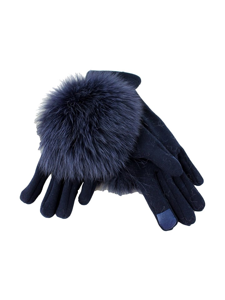Woman's Navy Stretch Texting Gloves