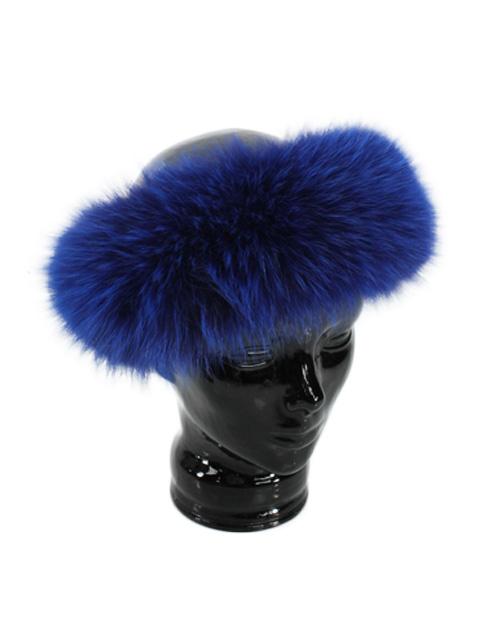 Electric Blue Fox Headband