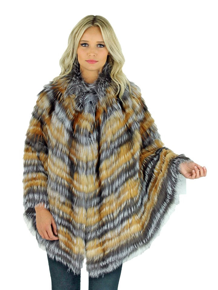 Woman's Silver Fox Fur Cape