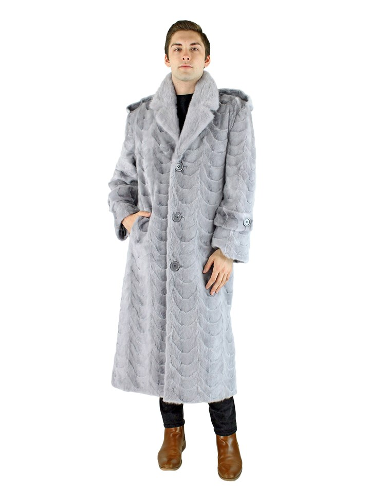 Man's Sapphire Mink Section Fur Coat