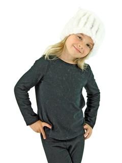 Kid's White Knitted Rex Rabbit Fur Hat
