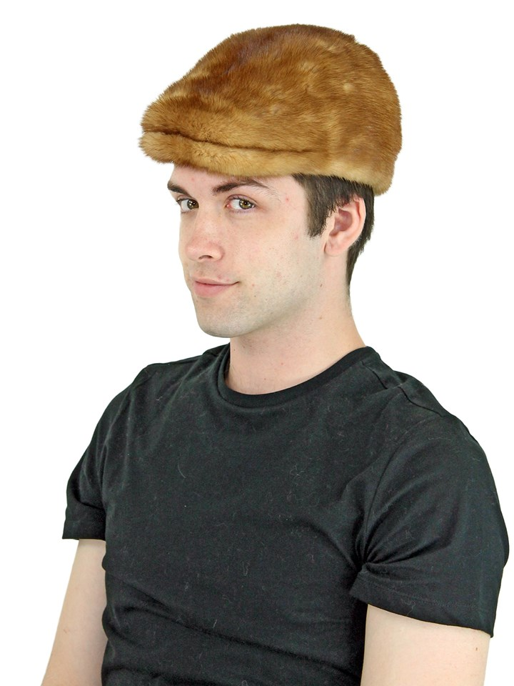 Man's Whiskey Mink Fur Kangol Hat