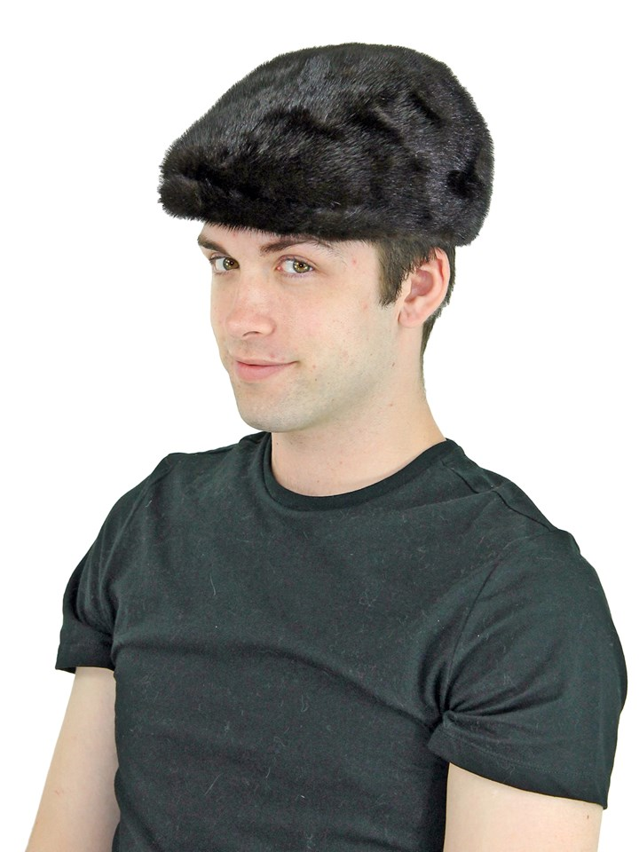 Man's Brown Mink Fur Kangol Hat