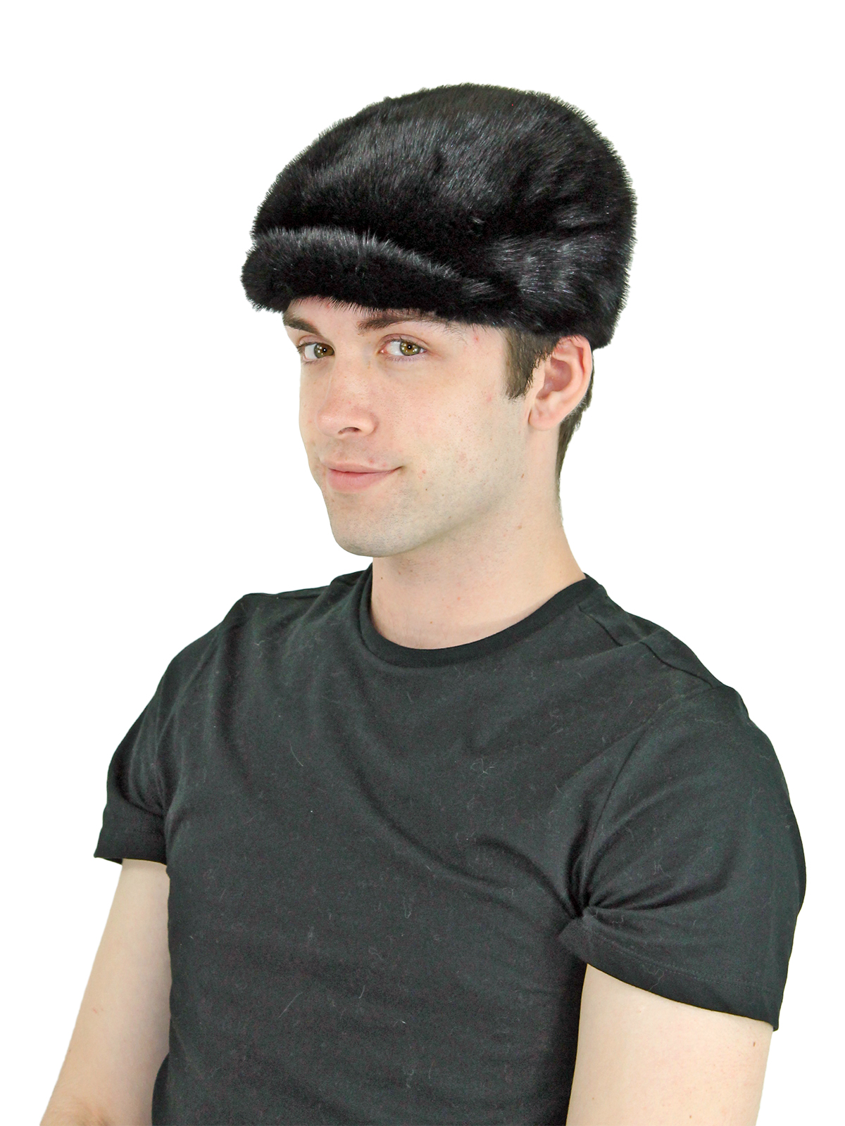 Man's Black Mink Fur Kangol Hat