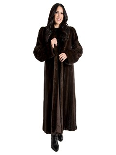 Women's Natural Mahogany Mink Fur Coat