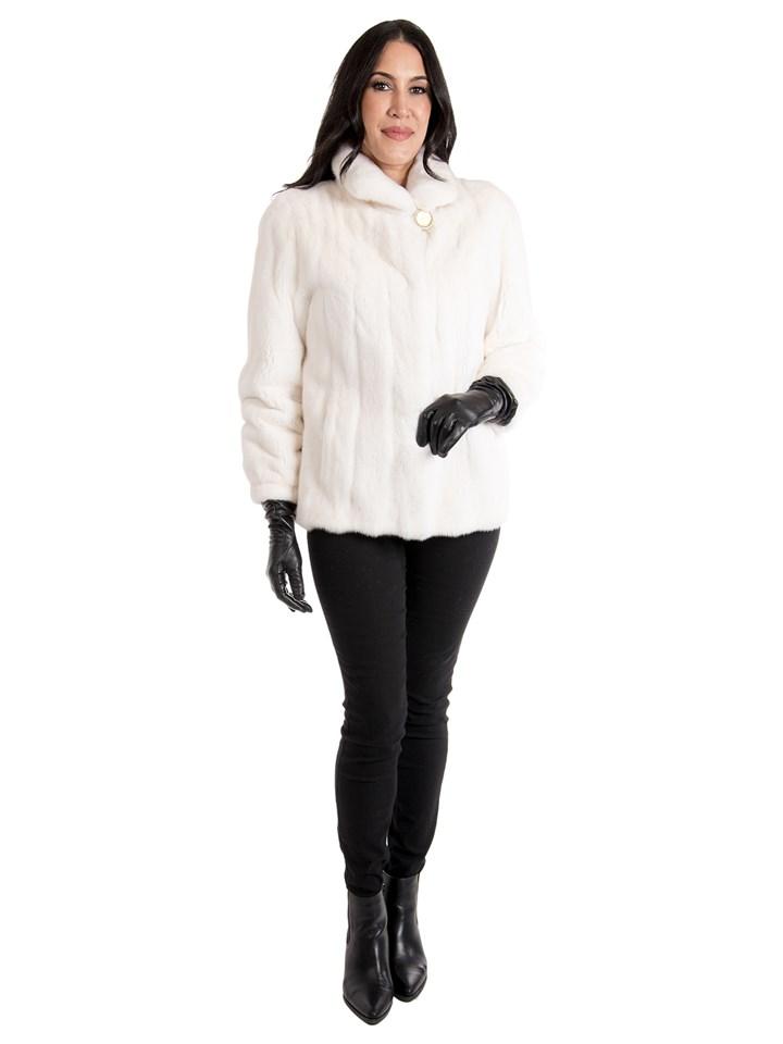 Women's White Mink Fur Jacket