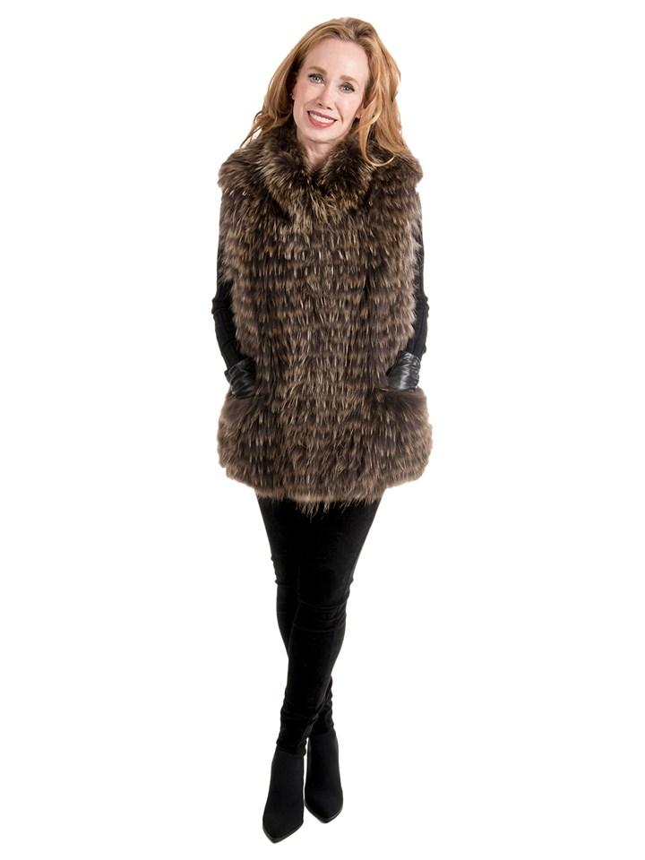 Women's Finnish Raccoon Fur Vest