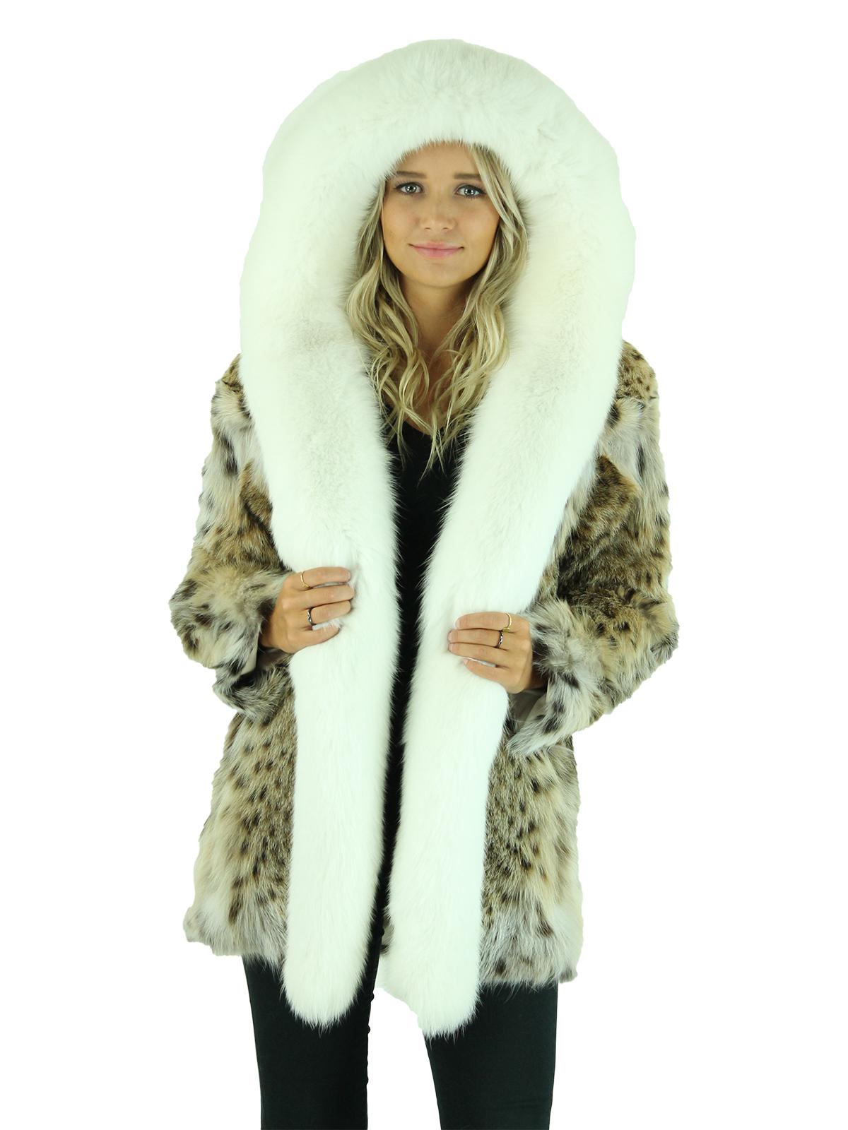 Woman's Natural Lynx Fur Parka