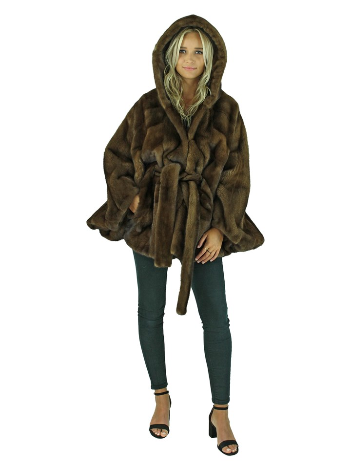 Woman's Scanbrown Mink Fur Cape