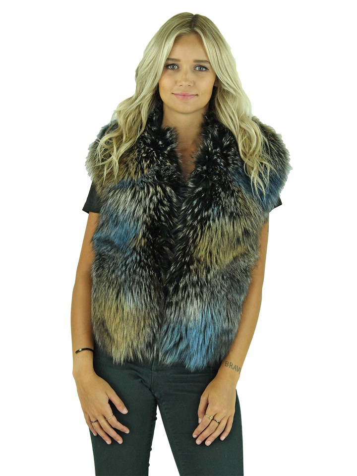 Woman's Multicolor Fox Fur Stole