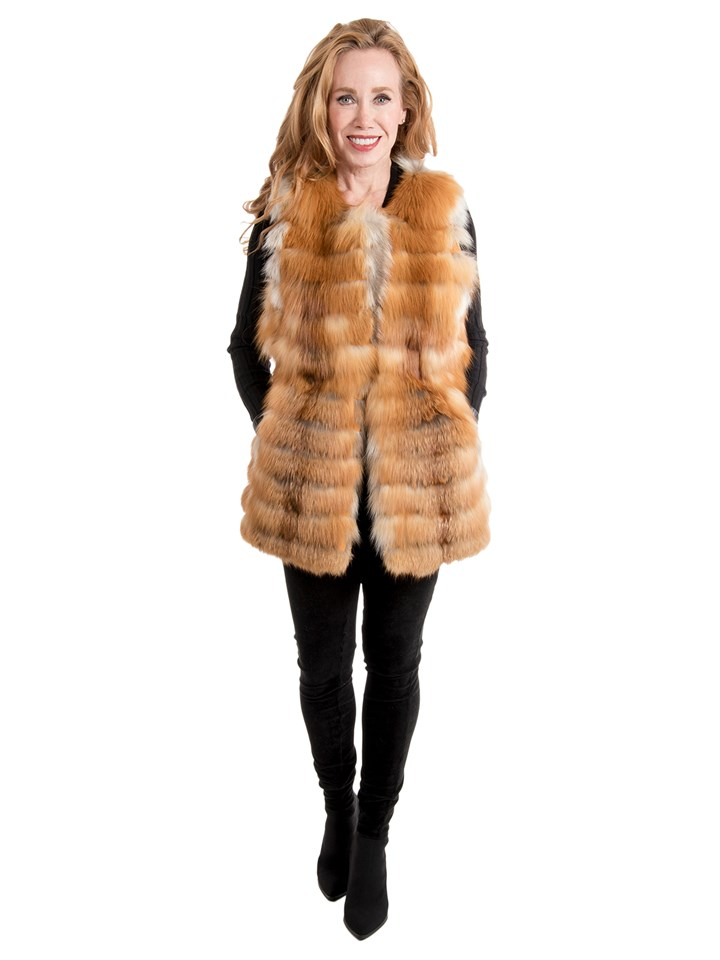 Women's Natural Red Fox Vest