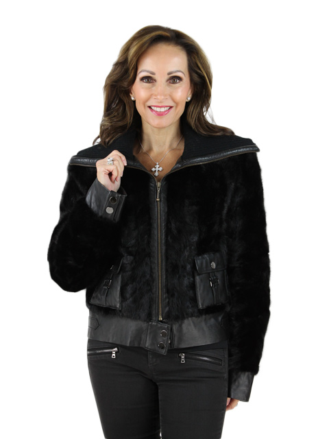 Ranch Mink Jacket with Leather