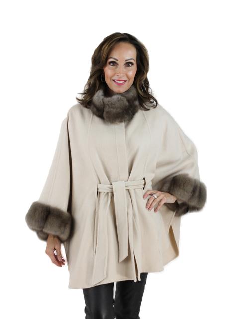 Tortora Cashmere Sable Fur Cape