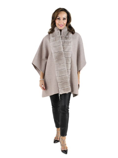 Camel Wool Rex Cape