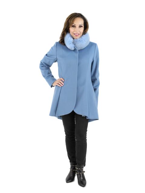 Light Blue Fabric Fox Stroller
