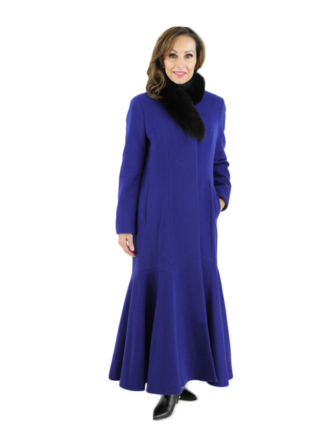 Blue and Black Cashmere Fox Coat