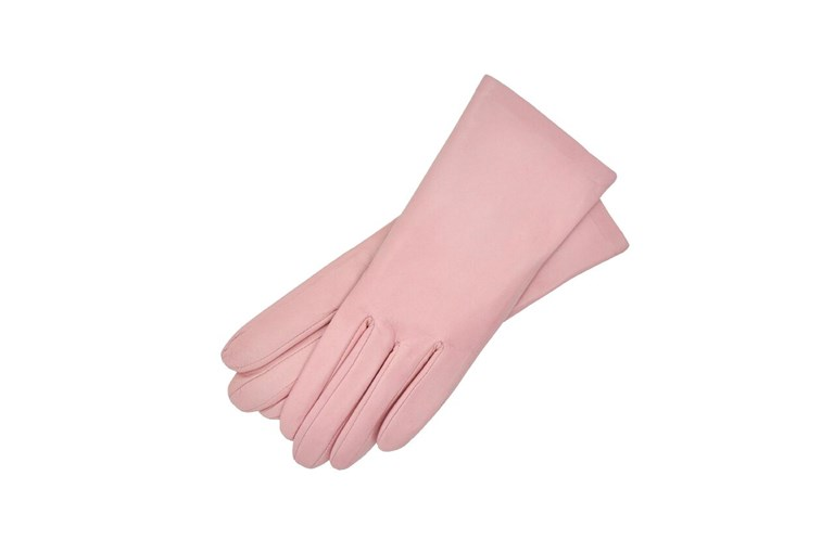 Rose Leather Gloves Womens Size 7