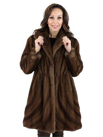 Gorski Woman's Scanbrown Mink Fur Stroller