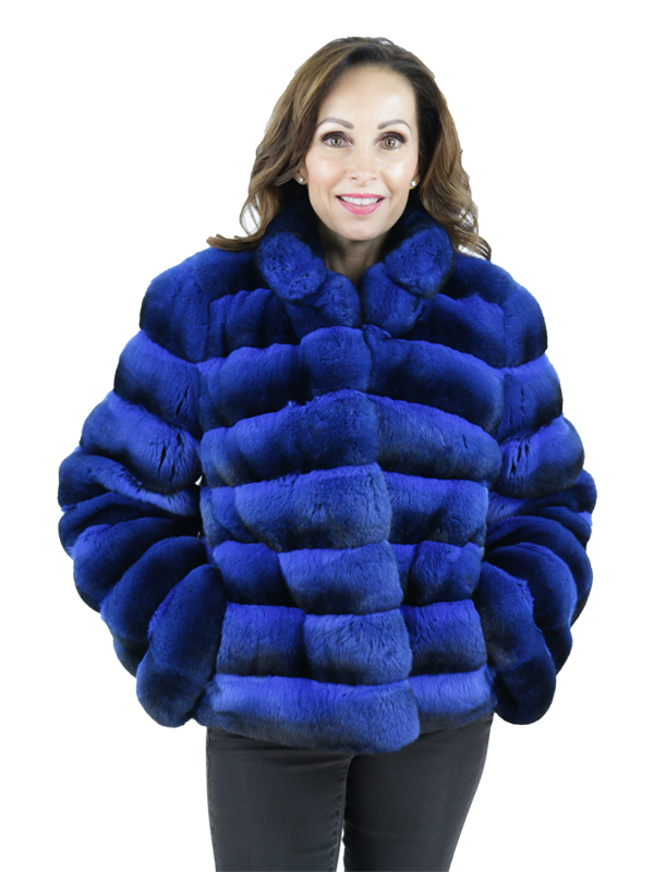 Gorski Electric Blue Chinchilla Jacket
