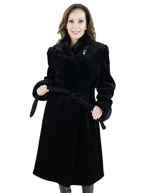 Black Sheared Mink Coat