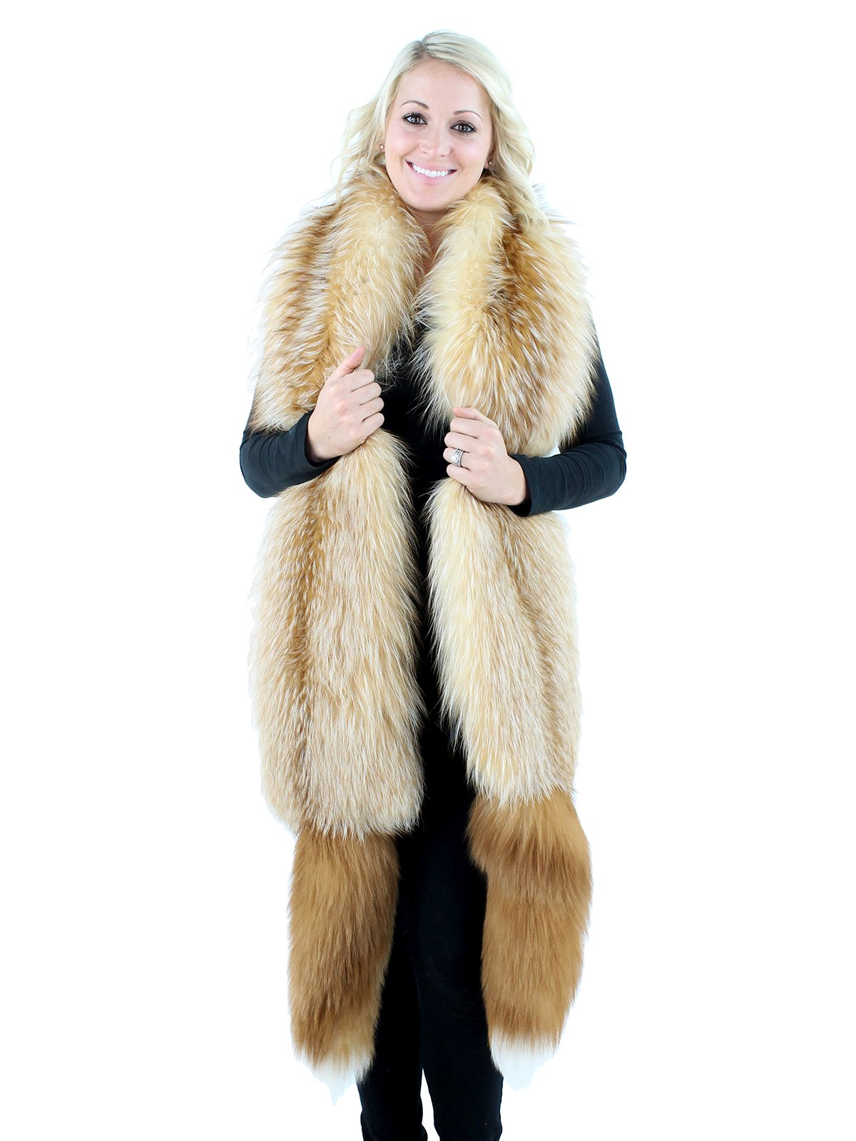 Gorski Bleached Crystal Fox Fur Boa Day Furs