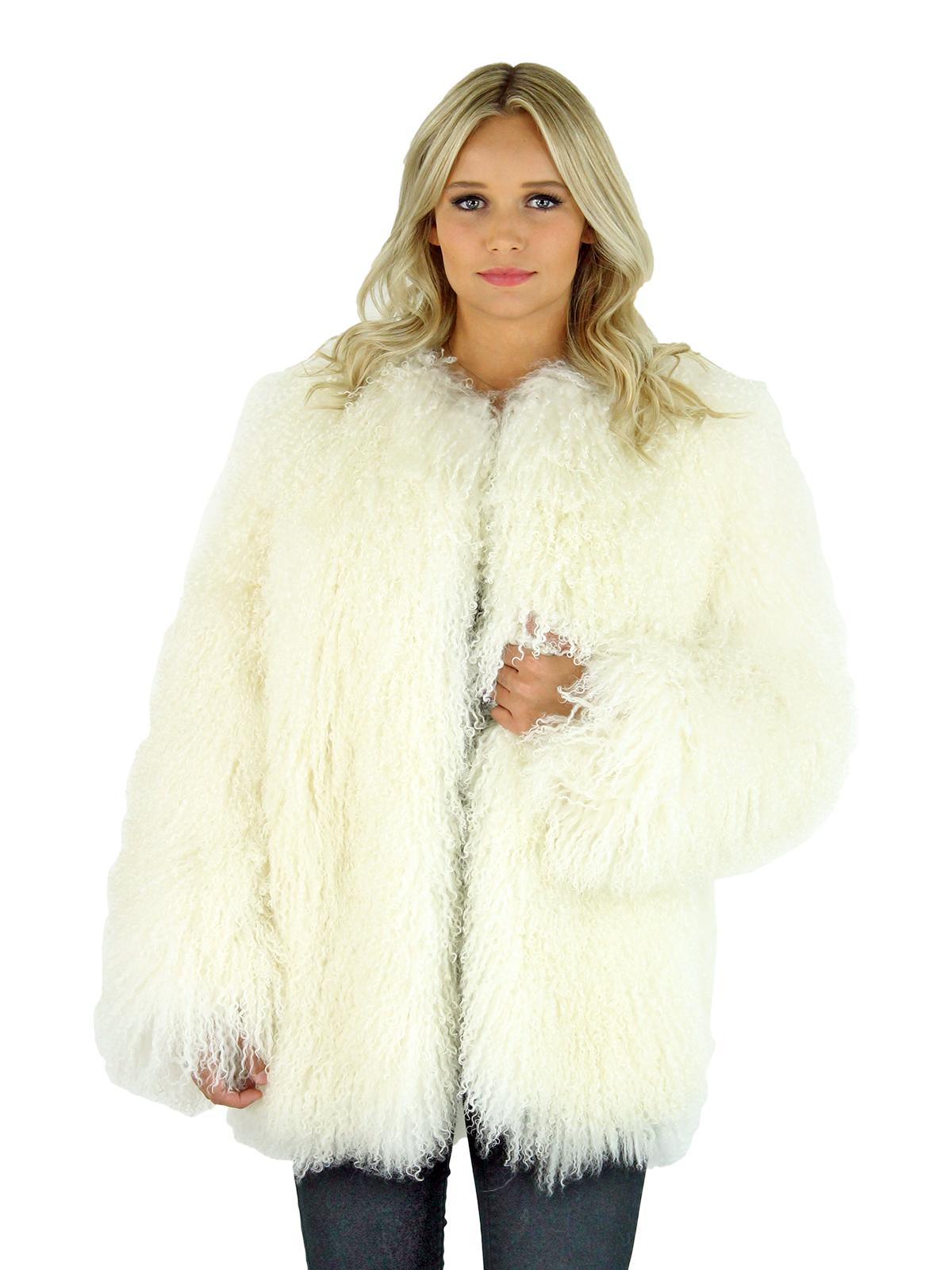 White Tibetan Lamb Fur Jacket Women S Fur Jacket